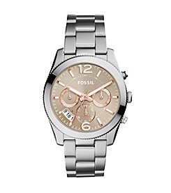Fossil® Women's 39mm Perfect Boyfriend Multifunction Stainless Steel Watch