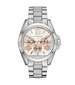 Michael Kors® Access Unisex 45mm Silvertone Bradshaw Chronograph Smart Watch