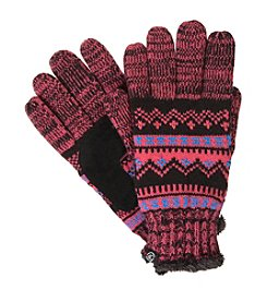 Isotoner® Women's Signature Traditional Fair Isle Knit smarTouch® Gloves