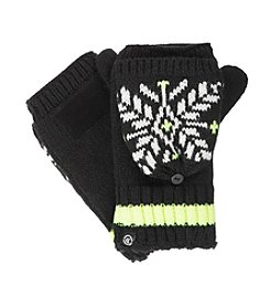 Isotoner® Signature Frosty Snowflake Flip Top Gloves