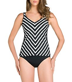Active Spirit® Stripe Of Genius Tankini Top