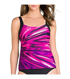 Active Spirit® Coastal Blues Tankini Top
