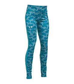 Under Armour® Girls' 7-16 ColdGear® Armour Printed Leggings