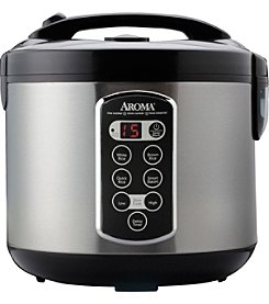 Aroma® 10-Cup Cool-Touch Digital Rice Cooker, Food Steamer & Slow Cooker