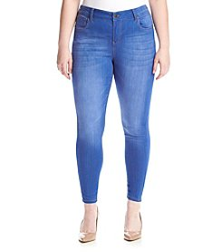 Celebrity Pink Plus Size Mid Rise Ankle Skinny Jeans