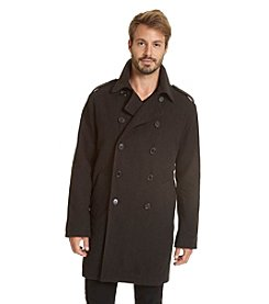 Excelled Men's Classic Long Peacoat