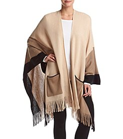 Cejon® Colorblock Ruana Wrap