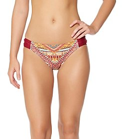 Jessica Simpson Side Shirred Hipster Bikini Bottoms