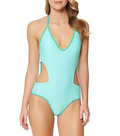Jessica Simpson Reversible Cutout One Piece