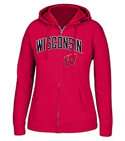 J. America® NCAA® Wisconsin Badgers Womens Full Zip Hoodie