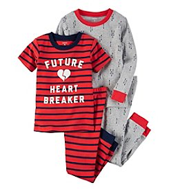 Carter's® Boys' 12M-12 4-Piece Future Heartbreaker Pajama Set