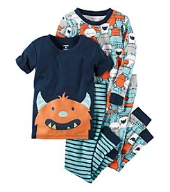 Carter's® Boys' 9M-12 4-Piece Monster Pajama Set