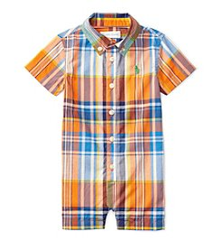 Ralph Lauren® Baby Boys' Kensington Plaid Shortall