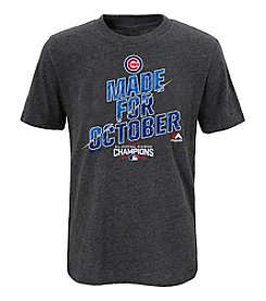 Majestic MLB® Chicago Cubs Boys' 8-20 Division Champs Lockeroom Short Sleeve Tee