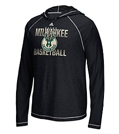 adidas® NBA® Milwaukee Bucks Men's Fade Away Hooded Long Sleeve Tee