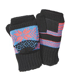 Isotoner® Signature Diamond Snowflake Flip Gloves