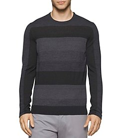 Calvin Klein Men's Merino Acrylic Strip Sweater