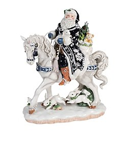 Fitz and Floyd® Bristol Holiday Santa On Horse Figurine