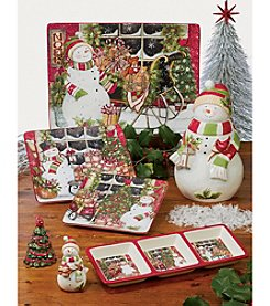Certified International Snowman's Sleigh by Susan Winget Dinnerware Collection