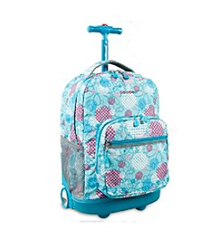 J World® Sunrise Dandelion Rolling Backpack