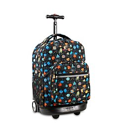J World® Sunrise Party Mobs Rolling Backpack