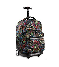 J World® Sunrise Doodle Rolling Backpack