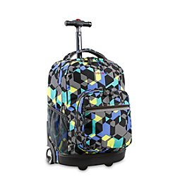 J World® Sunrise Cubes Rolling Backpack