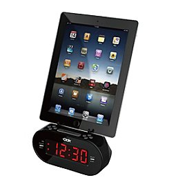 Dok Alarm Clock with Universal Smart Device Cradle and Audio Port