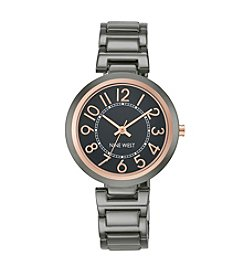 Nine West® Dark Grey Easy Reader Bracelet Watch