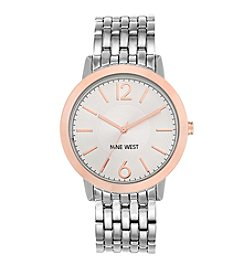 Nine West® Silvertone Metal Dress Watch