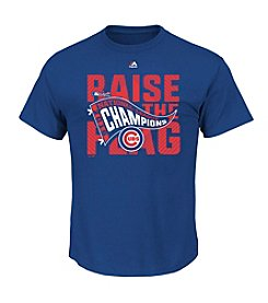 Majestic MLB® Chicago Cubs Men's League Champions Locker Room Short Sleeve Tee
