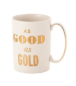 kate spade new york® Simply Sparkling Good As Gold Mug