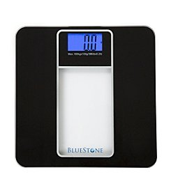 Bluestone Digital Glass Bathroom Scale with LCD Display - Black