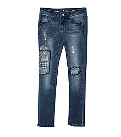 Earl Jean® Girls' 7-16 Vintage Patches Skinny Jean