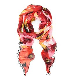 Collection 18 Bold Floral Neck Wrap