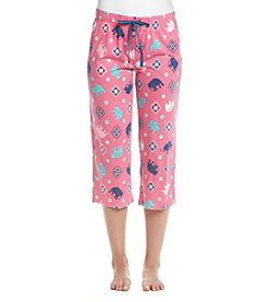 Relativity® Elephant Print Sleep Capri