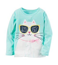 Carter's® Girls' 2T-8 I'm One Cool Cat Tee