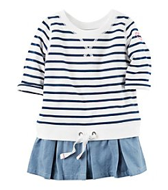 Carter's® Girls' 2T-8 Striped French Terry Top