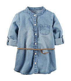 Carter's® Girls' 2T-8 Chambray Belted Tunic