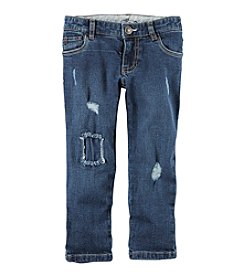 Carter's® Girls' 2T-8 Deconstructed Jeans