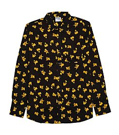 Hybrid™ Men's Long Sleeve Pikachu Pattern Button Down Shirt