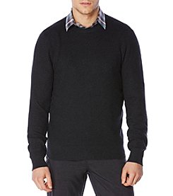 Perry Ellis® Men's Textured Crew Neck Seater