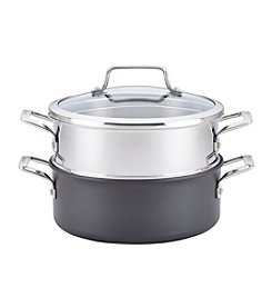 Anolon® Authority™ Hard-Anodized Nonstick Covered Dutch Oven with Steamer Insert