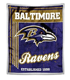 Northwest Company NFL® Baltimore Ravens Mink Sherpa Throw