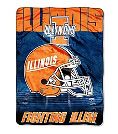 Northwest Company NCAA® Illinois Fighting Illini Overtime Micro Fleece Throw