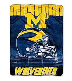 Northwest Company NCAA® Michigan Wolverines Overtime Micro Fleece Throw