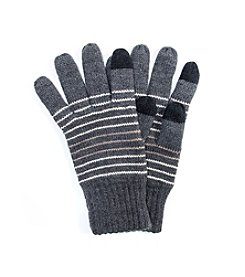 MUK LUKS Men's Striped Texting Gloves