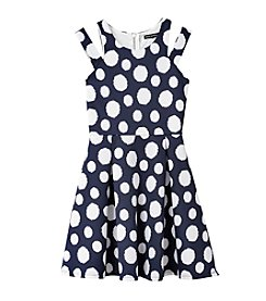 Sequin Hearts® Girls' 7-16 Polka Dotted Dress