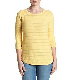 Jeanne Pierre® Striped Sweater Top