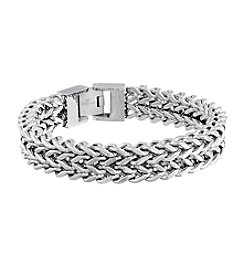 Stainless Steel Two-Strand Wheat Chain Bracelet